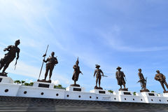 Rajabhakti Park. Giant Kings statues consecrated in Hua Hin, New landmark in Thailand Royalty Free Stock Image