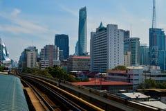 Rajadamri in Bangkok, Thailand: 29 januari, de Bouwzaken van 2017 Stock Foto
