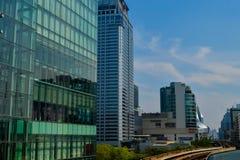 Rajadamri in Bangkok, Thailand: 29 januari, de Bouwzaken van 2017 Royalty-vrije Stock Foto's
