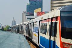 Rajadamri in Bangkok, Thailand: 29 januari, 2017 de Metro post BTS Royalty-vrije Stock Afbeeldingen