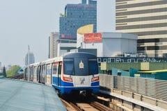 Rajadamri in Bangkok, Thailand: 29 januari, 2017 de Metro post BTS Royalty-vrije Stock Afbeelding