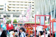Rajadamri in Bangkok, Thailand: 29 januari, het Chinese Nieuwjaar van 2017, toont van China Royalty-vrije Stock Afbeelding
