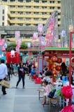 Rajadamri in Bangkok, Thailand: 29 januari, het Chinese Nieuwjaar van 2017, toont van China Stock Afbeelding