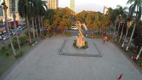 Rajah Sulayman Park in Manila From Above stock video footage
