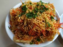 Rajakachori tradicional indiano delicioso do alimento tão saboroso e saboroso fotografia de stock