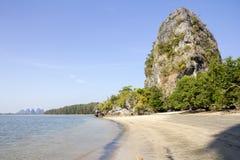 Rajamangala beach 4. Rock formations on Rajamangala beach, Trang Province, Thailand Royalty Free Stock Photo