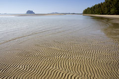 Rajamangala beach 3. Sand ridges on Rajamangala beach, Trang Province, Thailand Stock Images
