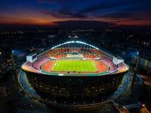 Rajamangala stadion är det störst i landet i Bangkok Arkivbild