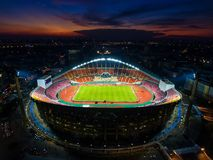 Rajamangala Stadium is the largest in the country in Bangkok Stock Photography