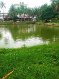 Rajarbagh police line pond stock images