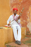 Rajastan. A Rajasthani man from Jodhpur district smiles for the camera Stock Image