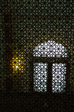 Rajastan window. Pattern of a window in a palace in Rajastan, India Stock Images