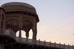 Rajasthan świątynia przy półmroku szczegółem Obrazy Stock