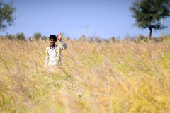 Rajasthan boy at the village. Young boy at the village in Nagaur district Royalty Free Stock Image