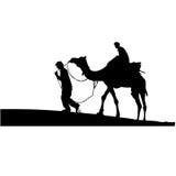 Rajasthan - camel safari Royalty Free Stock Photos