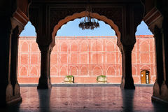 Rajasthan City Palace in Jaipur. City Palace museum in Jaipur, Rajasthan, India stock photography