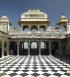 rajasthan för stadsindia slott udaipur Arkivbilder