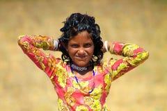 Rajasthan flicka Royaltyfri Fotografi