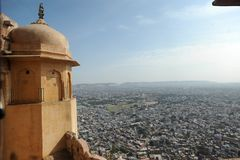 Rajasthan Fort. Landscape, historical building india royalty free stock photo