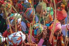 Rajasthan Holi świętowanie Obraz Royalty Free