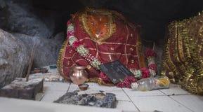Rajasthan, India †'DEC, 2016: Bogini Kali Ma Murti przy miejscowym h Fotografia Royalty Free