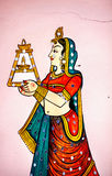 Rajasthan painting on Haveli Stock Photos