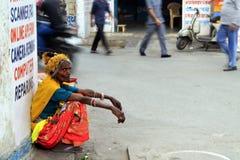 Rajasthan stam- gatakvinna Arkivbilder