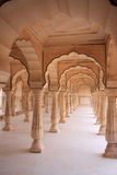 Rajasthan style Indian architecture. Traditional Indian architecture. Jaipur Amber fort. Rajasthan, India Stock Photo