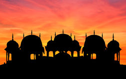 Rajasthan temple sunset Royalty Free Stock Photos