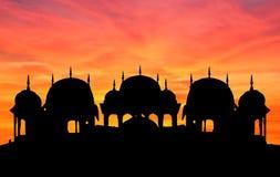 Rajasthan Temple Sunset Royalty Free Stock Photos