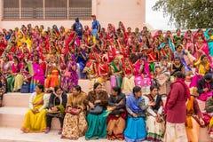 Rajasthani妇女人群  库存照片