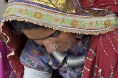 Rajasthani妇女 库存照片