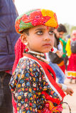 年轻Rajasthani男孩 免版税库存图片