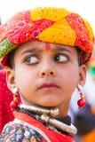 年轻Rajasthani男孩 库存照片