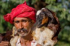 Rajasthani老人 免版税库存图片