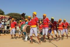 Rajasthani舞蹈家 免版税库存照片
