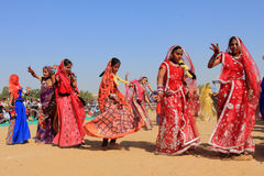 Rajasthani舞蹈家 免版税图库摄影