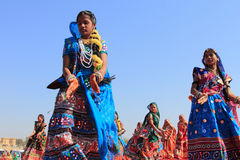 Rajasthani舞蹈家 免版税库存图片