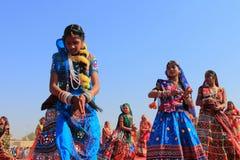 Rajasthani舞蹈家 库存图片