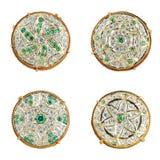 Rajasthani金首饰 免版税库存图片