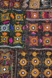 Rajasthani вышило ткани стоковая фотография