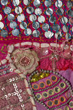 Rajasthani вышило ткани стоковые фото