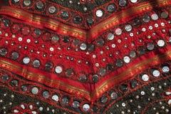 Rajasthani bordou a matéria têxtil Imagem de Stock Royalty Free