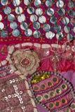 Rajasthani bordou a matéria têxtil Fotos de Stock
