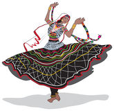 Rajasthani Dancer. Vector illustration of a Rajasthani gypsy dancer Stock Images