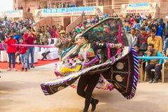 Rajasthani dancers Stock Photos
