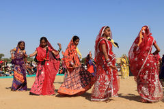 Rajasthani dancers Royalty Free Stock Photos
