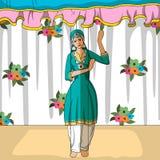 Rajasthani docka som gör Kashmirifolkdans av Indien Fotografering för Bildbyråer