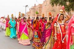 Rajasthani flickor Royaltyfri Fotografi