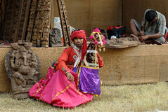 Rajasthani Folk Artist Stock Image